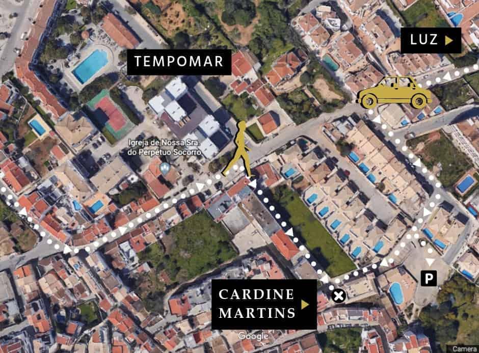 ALGARVE SOLICITOR CARDINE MARTINS LOCATION MAP